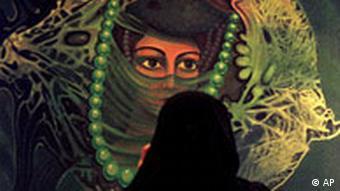 Saudi-Arabien Frau in Riad Schleier