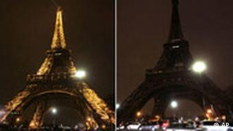 Kombo Paris Eiffelturm mit und ohne Licht