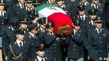 Italien Fußball Gewalt Beerdigung des Polizisten Filippo Raciti in Catania