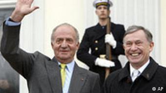 Deutschland Spanien König Juan Carlos bei Horst Köhler