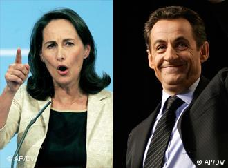 French socialist presidential candidate Segolene Royal (left) and Interior Minister Nicolas Sarkozy, addressing their political faithful last week. Sarkozy has extended his lead in pre-election polls