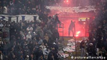 Fans im San-Siro-Stadion in Mailand