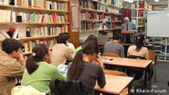 Chinesische Studenten und Doktoranden vom Rhein-Forum
