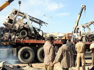 Aufräumarbeiten nach Anschlag im Iran
