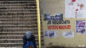 Bettler im Kosovo