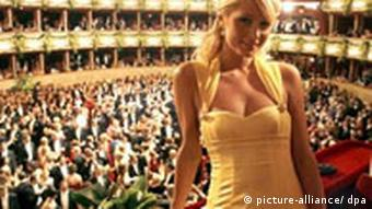 US celebrity Paris Hilton attends the Vienna Opera Ball 2007