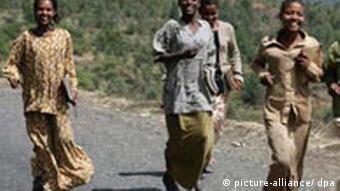 Junge Menschen in Äthiopien