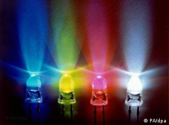 Four colored LED lights