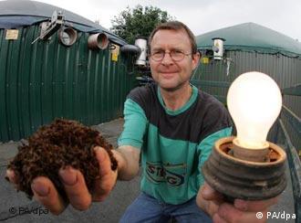 Біогазові установки для видобутку зеленої енергіїу Німеччині