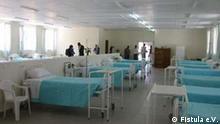 006 mekele krankensaal.jpg Sehr geehrte Frau Hodali, das sind die ersten Bilder vom Außenzentrum in Mekele. Es wurde letztes Jahr eröffnet. Von dem Außenzentrum in Bahr Dar habe ich leider keine Bilder, ich werde mich aber darum bemühen. Das Außenzentrum in Yirga Alem wurde erst im November eröffnet. Das Zentrum im Harar ist noch Baustelle und mit dem Bau des Krankenhauses in Metu soll demnächst begonnen werden. Ich schicke Ihnen aber noch Bilder von Desta Mender und vom Krankenhaus in Addis. Herzliche Grüße Jutta Ritz info@fistula.de www.fistula.de Für die Rechtsabteilung: Wir gestatten die Verwendung der Bilder unter Angabe der Quelle: Fistula e.V. Mit freundlichen Grüßen Jutta Ritz Fistula e.V. Neue Heimat 7 D-76646 Bruchsal 07257-6429 (AB) 0176-2203 6263 (mobil) 0721-926-4846 (Büro) info@fistula.de www.fistula.de