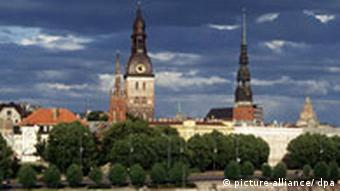 A view of the Old City in Riga, Latvia