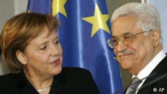 Deutschland Palästinenser Mahmud Abbas bei Angela Merkel Berlin
