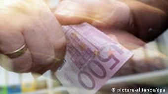 500-Euro-Schein, Symbolbild Bestechung, Schmiergeld, Korruption
