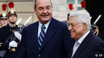 Mahmoud Abbas und Jacques Chirac in Paris