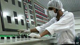 A worker at an Iranian nuclear facility