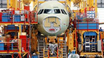 Airbus A319 being assembled in Hamburg