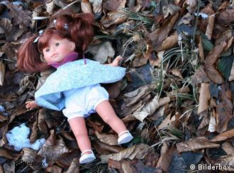 Doll in the woods