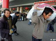 春节到了民工返乡难