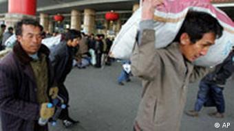 China Unterschicht Wanderarbeiter in Peking