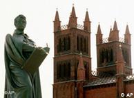Estátua de Schinkel em Friedrichwerderschen, igreja em Berlim por ele projetada