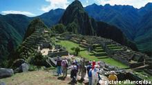 Inka Festung Machu Picchu, Touristen in Peru