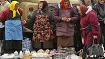 Alte Frauen in Lviv, Ukraine