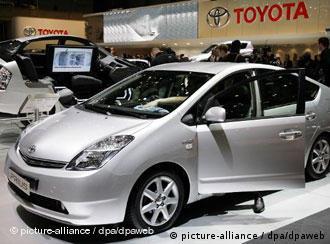 der Toyota Prius auf einer Automobilmesse