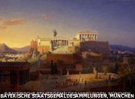 Leo von Klenze (1784-1864): Ιδανική άποψη της Ακρόπολης και του Αρείου Πάγου, 1846, Νέα Πινακοθήκη του Μονάχου