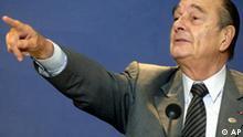 Jacques Chirac auf EU-Gipfel in Brüssel
