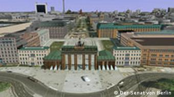 Berlin, 3D, Google Earth, Berlin Partner, Brandenburger Tor