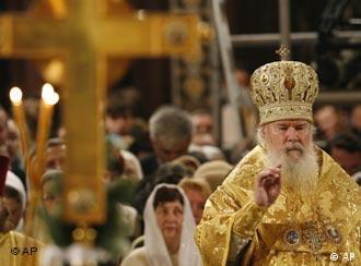 Глава Русской православной церкви Патриарх Алексий II