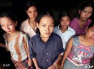 Niñas prostitutas en Cambodia.