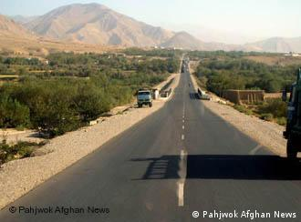 A road in the Parwan province