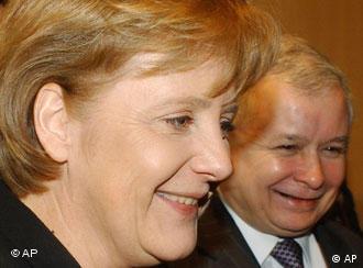 Ярослав Качиньский и Ангела Меркель