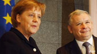 Angela Merkel und Jaroslaw Kaczynski