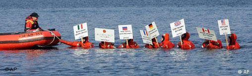 Greenpeace-Protest zu Wasser