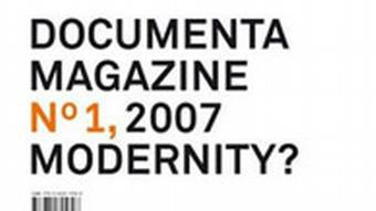 Buchcover Documenta Magazine Nr.1 2007 Modernity?
