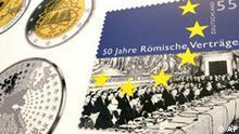 BdT Deutschland Gedenkmünze 50 Jahre Römische Verträge Briefmarke
