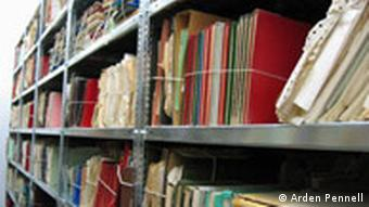 Stasi files on shelves