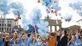 Abschluß des EU-Gipfels in Berlin