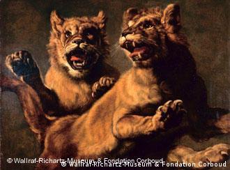 Frans Snyders, 'Dois leões jovens pulando', 1620–30