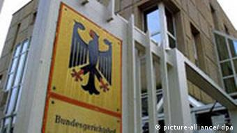 Picture of entrance to Germany's Federal Court
