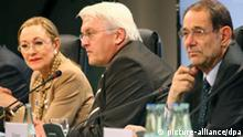 Ferrero-Waldner, Steinmeier und Solana beim EU-Außenministertreffen in Bremen