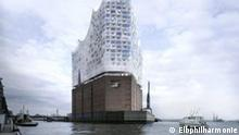 West - Ansicht der geplanten Elbphilharmonie in Hamburg