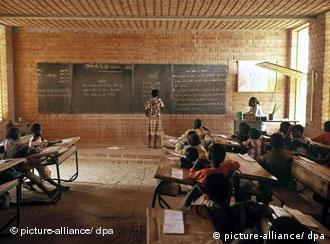 Klassenzimmer in Afrika