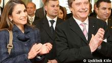 Deutschland Köln Jordanien Königin Rania Al-Abdullah Uniklinik