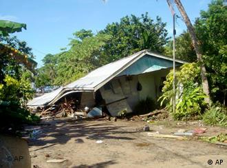 The Solomon Islands, which were badly affected by the 2004 Tsunami, could sink because of climate change