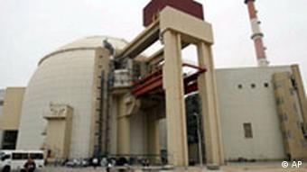 The reactor building of the Bushehr nuclear power plant, south of the capital Tehran