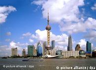 蓝天下繁荣的上海