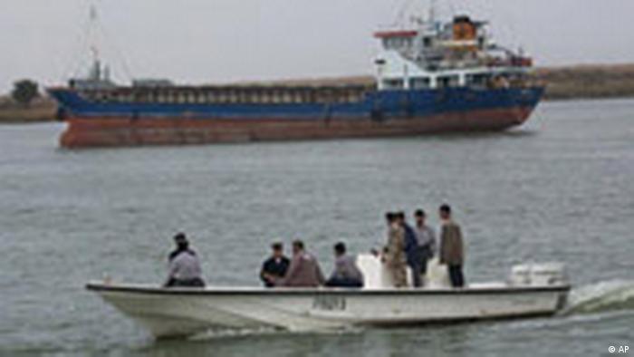 Patrouillenboot auf dem Schatt el-Arab (AP)